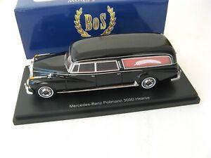 Mercedes-Benz Pullmann 300 D Hearse (W189) black 1/43 Best оf Show