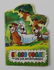 """1981 YOGI BEAR Die-Cut Book 8"""" x  5.75"""" (20.5 x 14.5 cm.) Spanish Vintage VRARE!"""