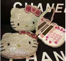 Worldwide Shipping* Hello Kitty Calculator Handmade Crystal Shining 1pc