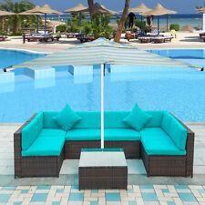 7 PCS Outdoor Patio Furniture Set Rattan Sectional Garden Furniture Wicker Sofa