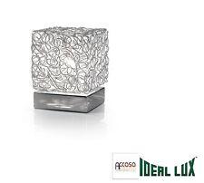 LAMPADA DA TAVOLO  IDEAL LUX QUADRO TL1 ALLUMINIO Codice 004686
