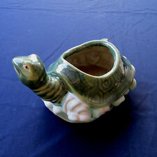 Chinese Ceramic Lucky Bamboo Pot Turtle Tortoise 4.5x6