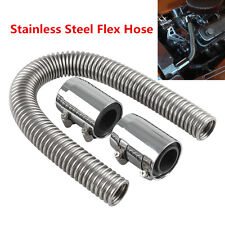 "New 24"" Chrome Stainless Steel Radiator Hose & Radiator Caps Cover Universal Car"