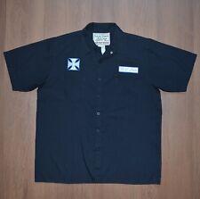 Jesse James Work Wear West Coast Choppers Button Shirt Black MC Club sz L