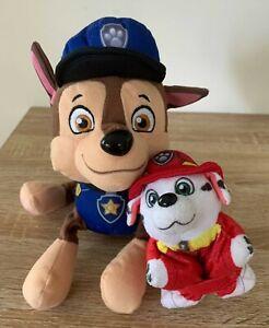 Paw Patrol Lot of 2 Chase Plush Soft Toy Marshal Mini Pillow Pet Dalmatian Small