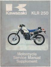 Service Manuelle Supplément - Kawasaki KLR250 1985 99924-1051-01