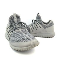 Adidas Boys Youth 5.5 Tubular Radial Fashion Sneakers S76022 Shoes Gray Low Top