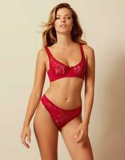 AGENT PROVOCATEUR RARE SEXY RED AUDREY BRA 32C OR 34B & SIZE 3 MEDIUM THONG BNWT