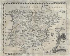 Fine Antique Map - Spain & Portugal - Copper Engraved - 1748