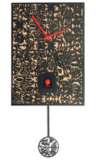 Black Forest Modern Art Cuckoo Clock Silhouette bl. NEW