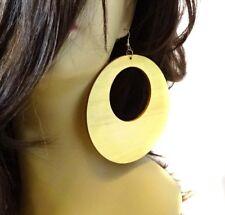 WOOD EARRINGS LARGE 4.5 INCH HOOP BLACK OR BROWN HOOP EARRINGS LIGHTWEIGHT
