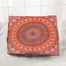 Indian Mandala Floor Pillow Tapestry Meditation Cushion Cover Dog Bed Square 35