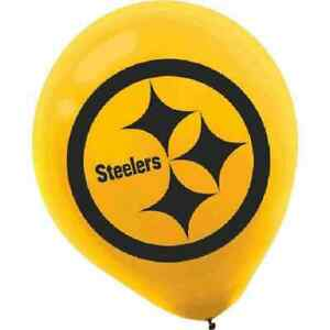 Pittsburgh Steelers NFL Pro Football Sports Party Decoration Latex Balloons