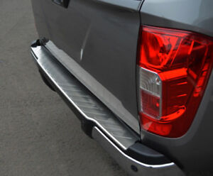 To Fit Nissan Navara NP300 (2015+) - Rear Bumper Protector Scratch Guard Brushed