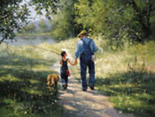 Building Memories by Jack Sorenson Going Fishing  With Grandpa Open Edition