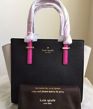 NWT Kate Spade Cedar Street Small Hayden Handbag Purse $298 Black/Pebble/Vividsn