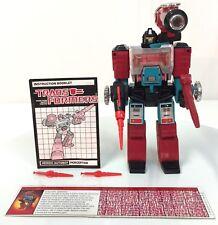 Transformers G1 Autobot PERCEPTOR 100% complete Hasbro VINTAGE 1985  ~a