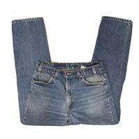LEVI'S 505: Vtg 70s-80s Orange Tab Distressed Med  Wash Blue Jeans Men's 34 x 32