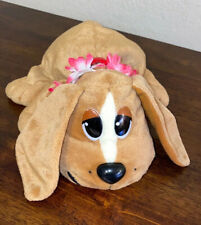 Pound Puppy Plush Basset Hound with Collar Red And FlowersGaloob Stuffed Animal