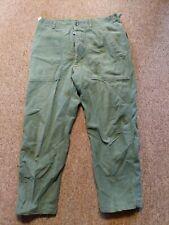 VTG Vietnam US Army Military Utility Fatigue Trouser Pants  inseam medium