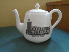 FINCHINGFIELD CHURCH ESSEX - TEAPOT -  PICTURE CRESTED CHINA