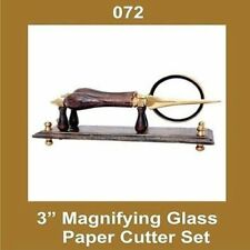 3 Inch Glass Magnifying Paper Cutter Set Nautical S2u