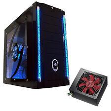 GALAXY - 500w SATA III Alimentatore-ATX Led Blu PC COMPUTER CASE + CHIARO SIDE Window