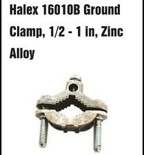 10x Halex 16010b 12 To 1 Zinc Ground Rod Clamps