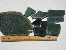 646  JADE SLABS, NICE 1# ASSORTMENT FROM A CLOSED OLD TIME ROCK SHOP. JADE ROCKS