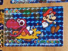 SUPER MARIO WORLD BANPRESTO CARDDASS CARD PRISM CARTE 7 NITENDO JAPAN 1993 **