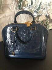 LOUIS VUITTON vernis Alma ,BLEU NUIT- RARE COLOR Perfect New Condition