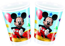 Disney Mickey Mouse Clubhouse Party Plastic Cups X 8