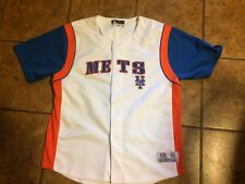 New York Mets Youth XL fits size 18 button-up jersey