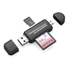 Micro USB OTG to USB 2.0 Adapter; SD/Micro SD Card Reader with standard USB Male