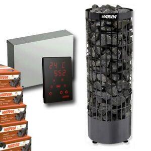 HARVIA Cilindro Black Steel Saunaofen PC90EM 9 kW + Harvia Steuerung Xenio CX110