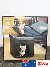 Pet Ottoman DOG CAT TOY PET BED Collapsible Black