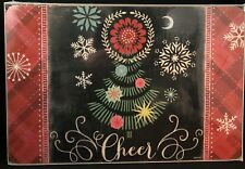 Set of 4 Christmas Hardboard Placemats Cork Backed Elegant Dining by Jason A