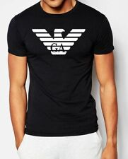 Black Emporio Armani Mens Muscle fit T-shirt,95% cotton,5% elastan,Chest logo