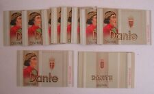 Lot of 10 Old Vintage DANTE Cigarillos - Tobacco BOXES / Package Sleeve - GRAY