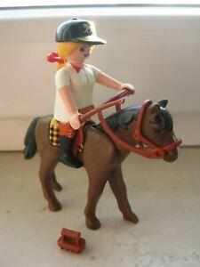 Playmobil 4191 Reiterin mit Pferd Reiterhof Zubehör Ergänzung