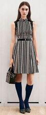 Tory Burch Katy Dress 8 M L Silk Polka Dot Print stretch silk chiffon dress NWT