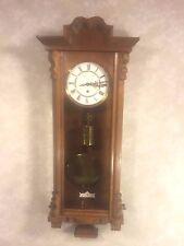 Antique Gustav Becker Vienna Wall Regulator Clock Nice Case Running Time Only