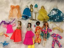 Vintage 1970 Topper Dawn Dolls Clothes Accessories Lot