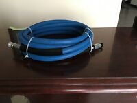 """3/8"""" x 10' Blue 4,000 PSI Pressure Washer Jumper Hose Free Shipping"""