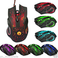 6 Button 5500 DPI LED Optical USB Wired Gaming PRO Mouse Mice for PC Laptop Mac
