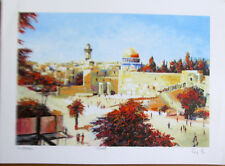 Eli Grebel Western Wall  Lithograph Signed Numbed COA  13 X 10 AMD