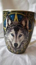 Tasse Becher Kaffeebecher Kaffeepott Teepott Gothic 350 ml Wolf Wolfskopf