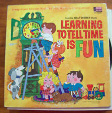 Learning to Tell Time is Fun Disneyland Book Vinly LP Record
