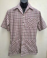 Turkey Run Andrews Mens 1960's Barber Shop Professional Shirt Size Small