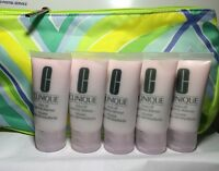 New!~5 X Clinique Rinse-off Foaming Cleanser Total 150 ml = Full Size & Free bag